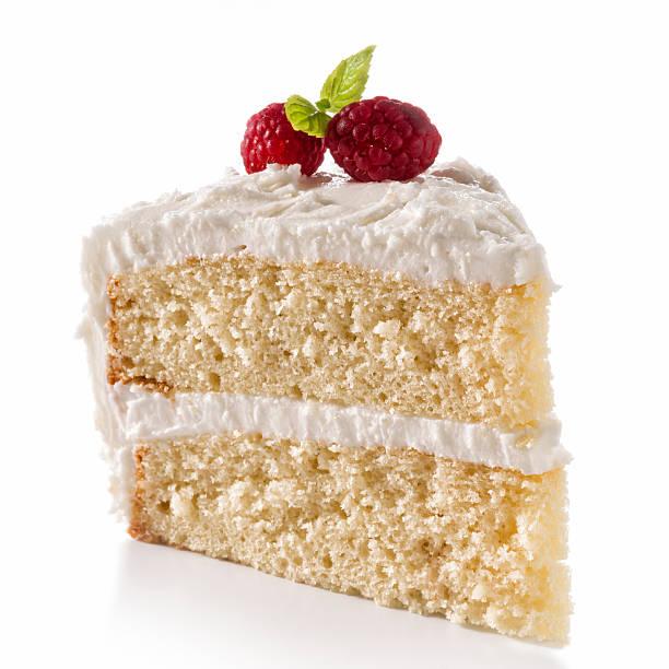 ванильный пирог - кусок торта стоковые фото и изображения