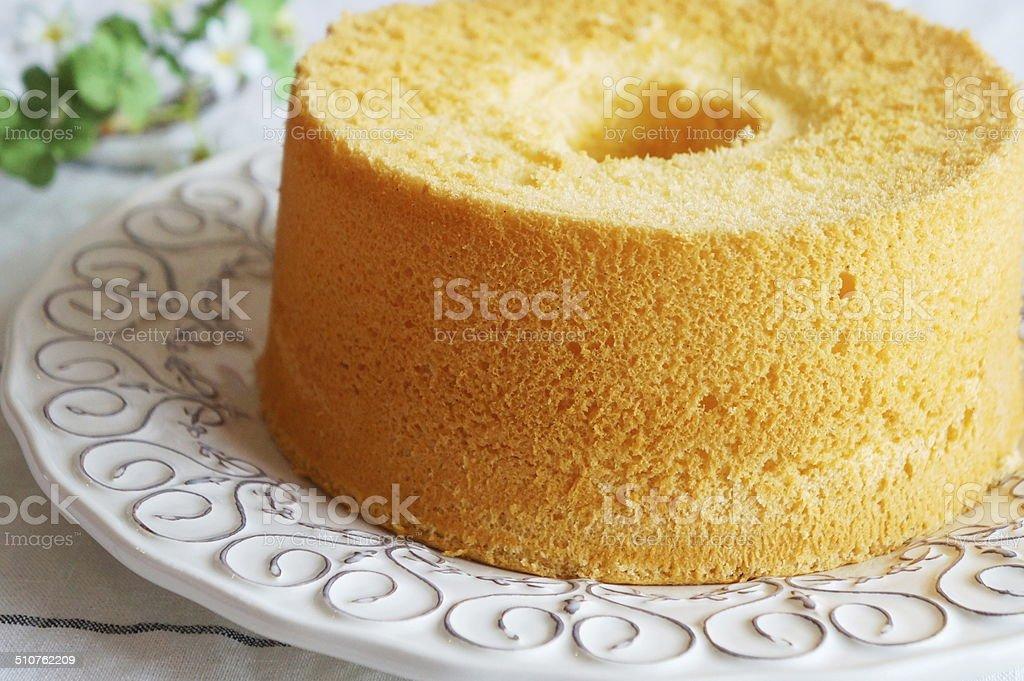 Vanilla Chiffon Cake stock photo