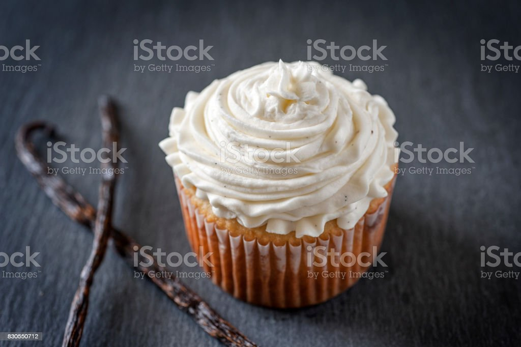 Vanilla Cupcake stock photo