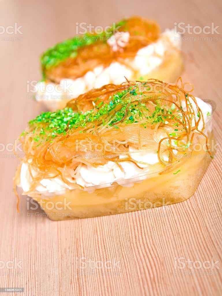 Vanilla  dessert royalty-free stock photo