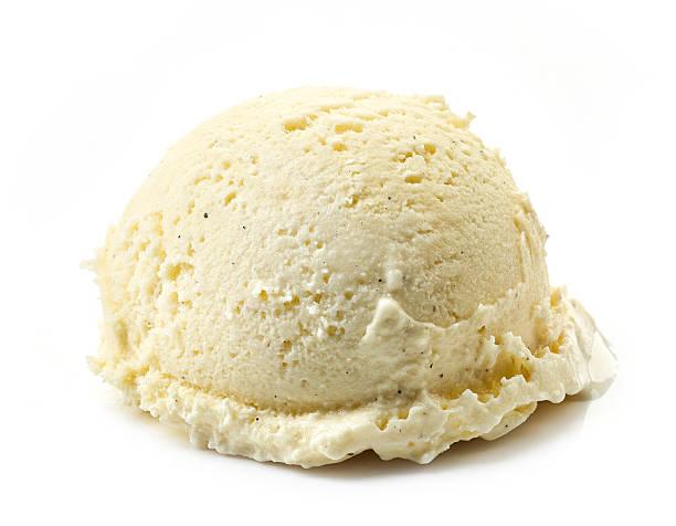 vanilla ice cream ball - foto de acervo