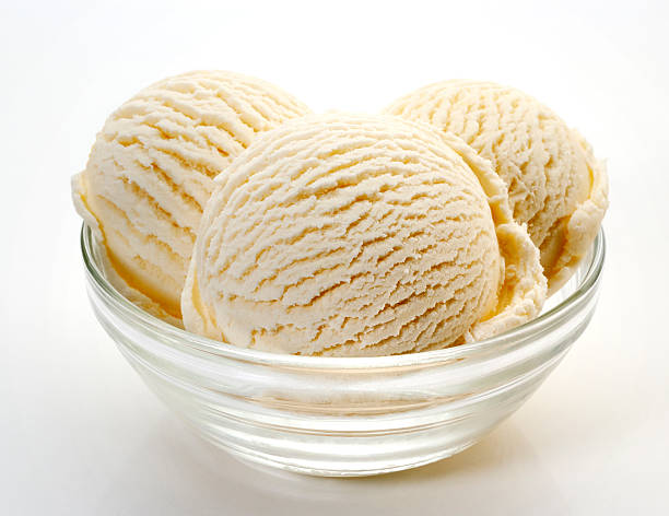 Vanilla ice cream stock photo