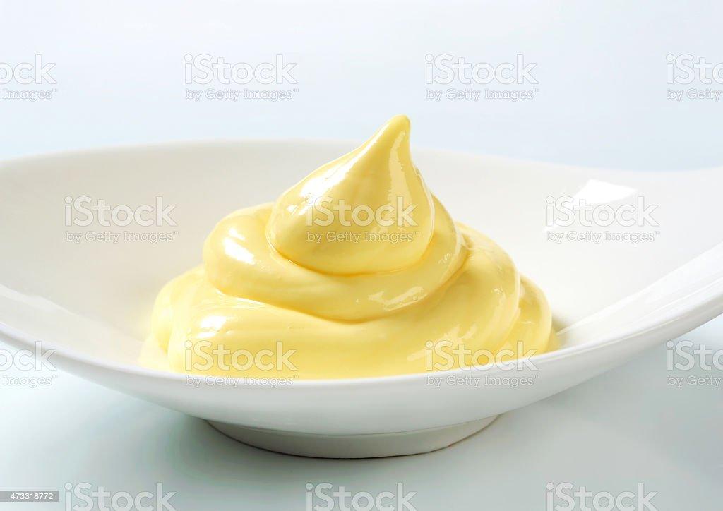 Vanilla pastry cream stock photo