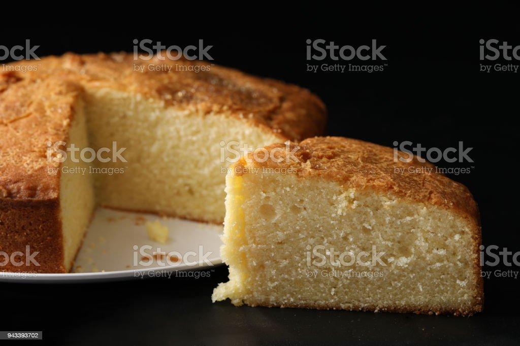 Vanilla Pound Cake stock photo