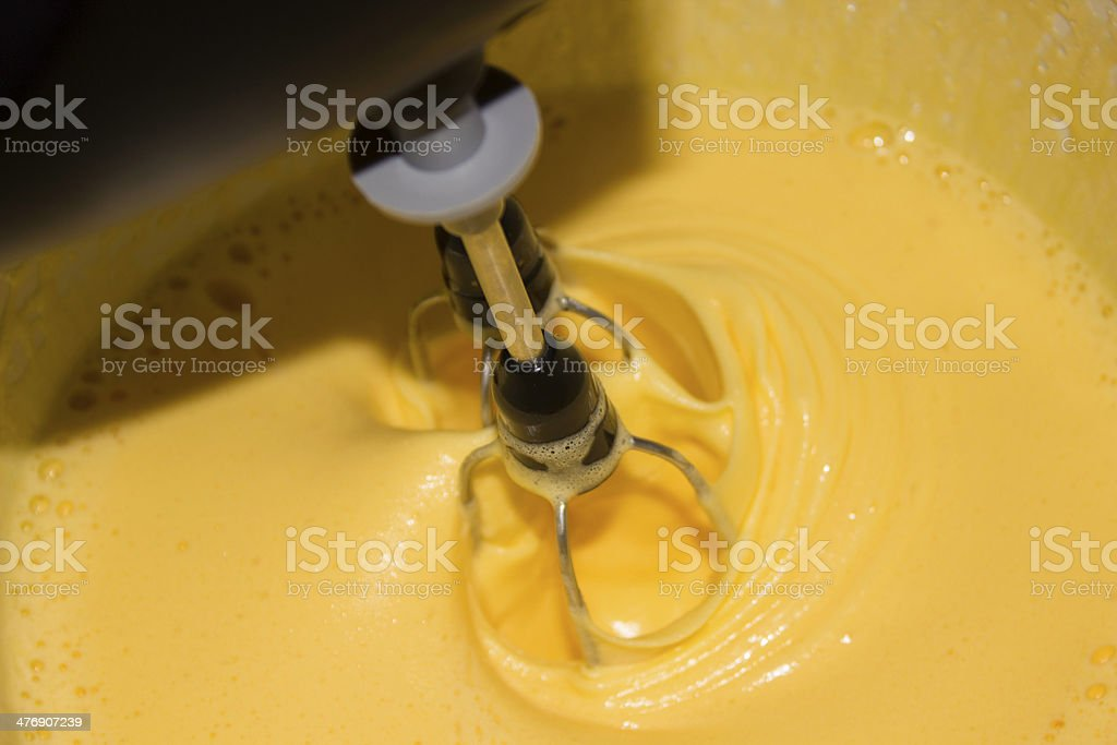 Vanilla sauce stock photo