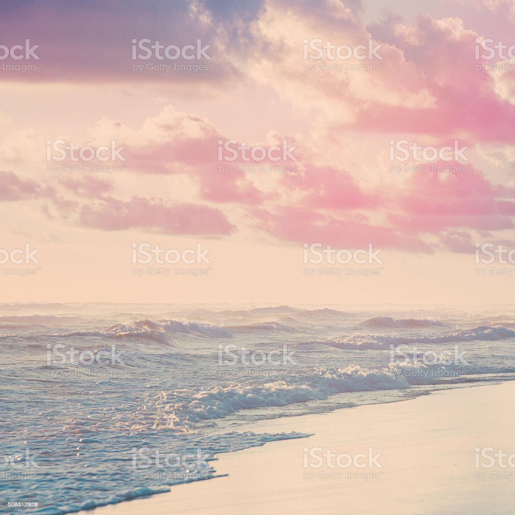 Vanilla sky and the Indian ocean stock photo