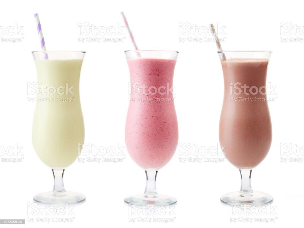 Photo De Stock De Vanille Fraise Et Chocolat Milkshake Images Libres