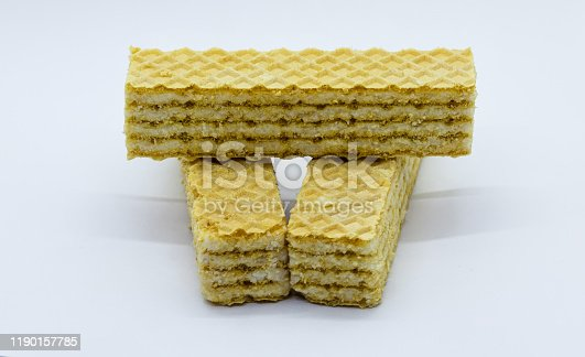 istock vanilla wafer cookies on balk background 1190157785