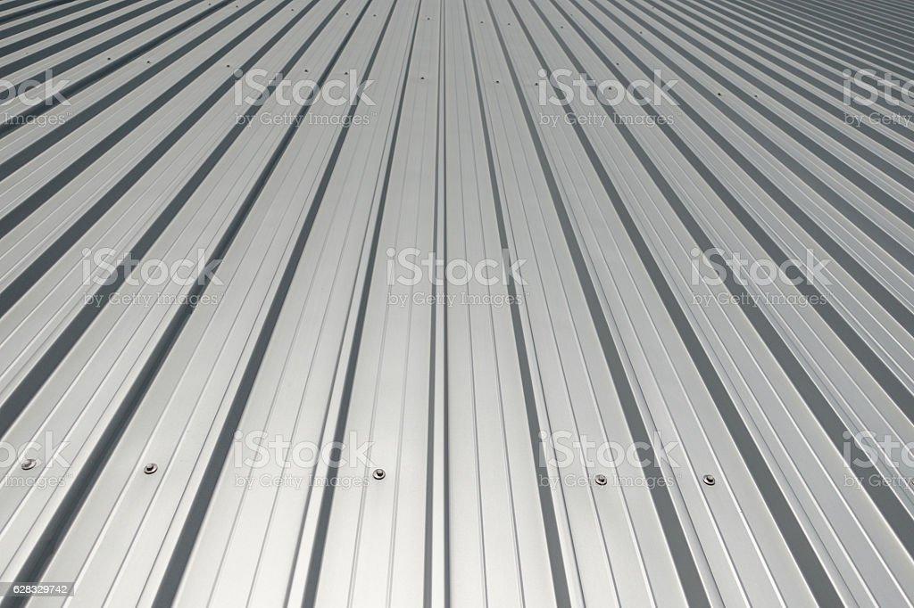 Vanishing Aluminium Lines stock photo