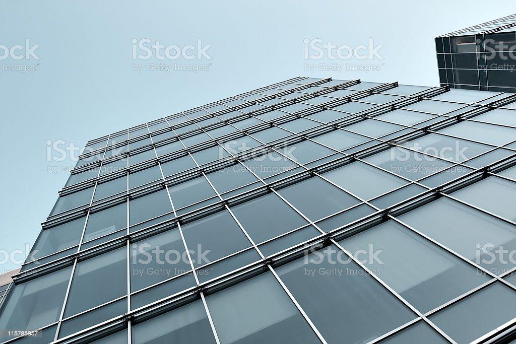 vanishing pane of azure building at night royalty-free stock photo