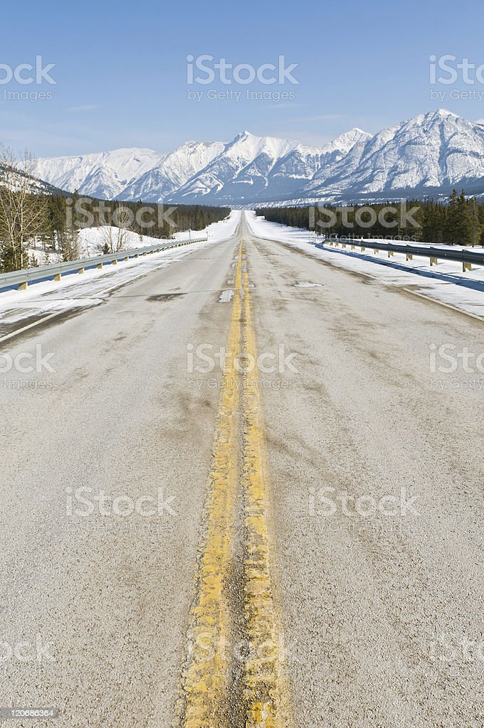 Vanishing Road in the mountains royalty-free stock photo