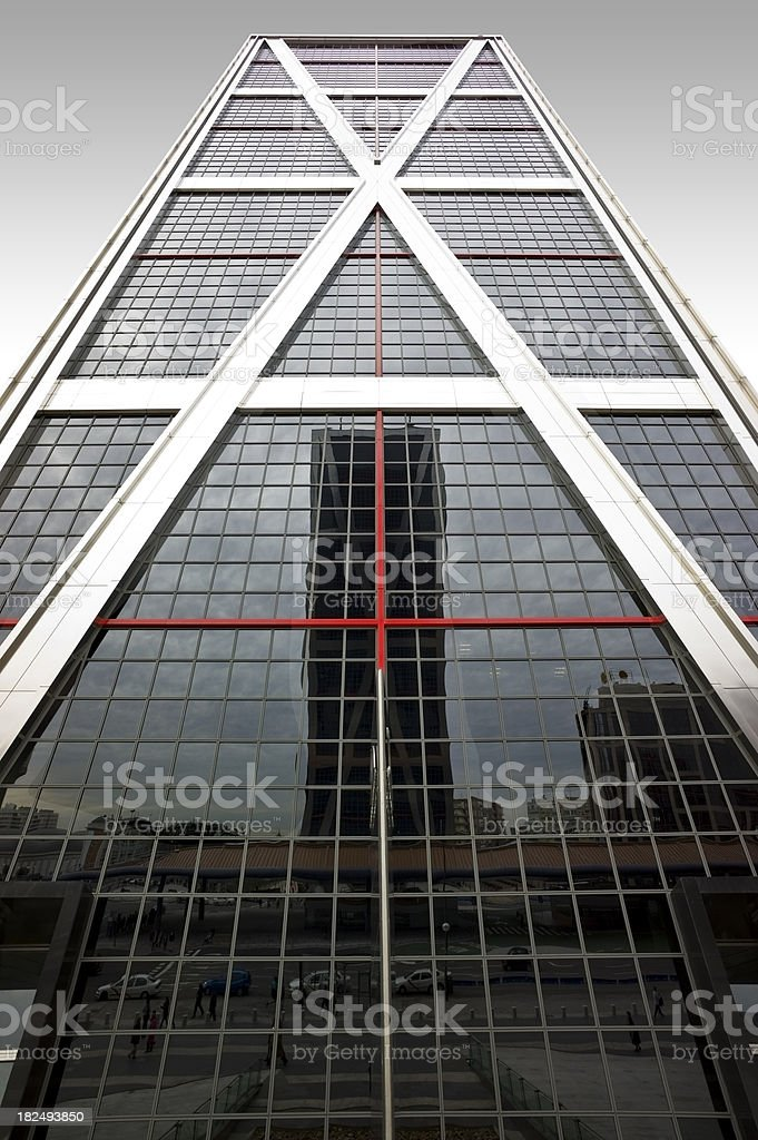 Vanishing skyscraper. Absolutely symetric royalty-free stock photo