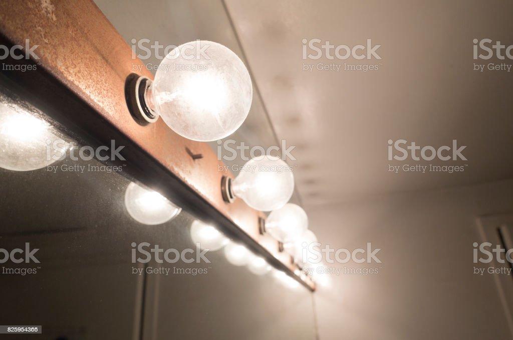 vanity mirror lights stock photo
