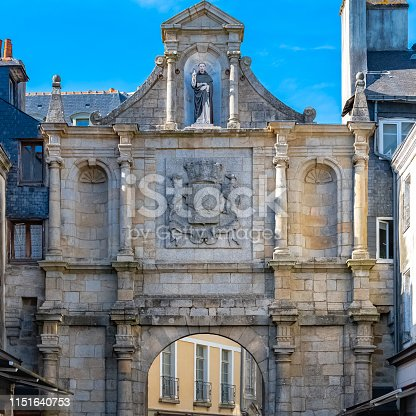 Vannes, old gate of the fortifications, Saint-Vincent gate, magnificent town in Brittany
