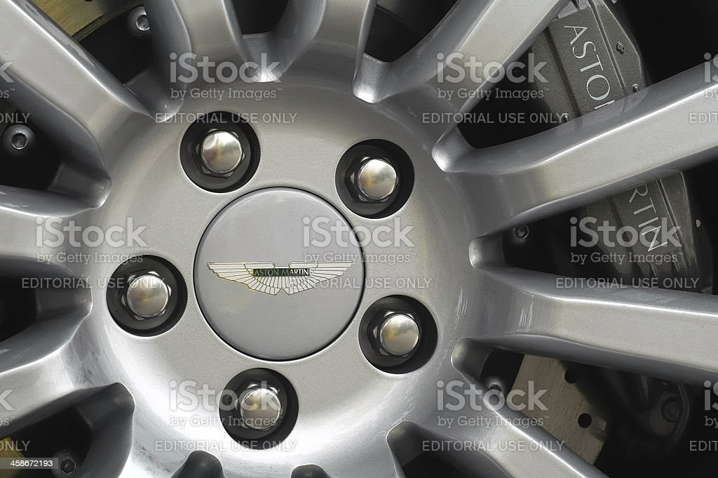 Vanquish wheel stock photo