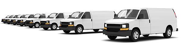 Vans stock photo