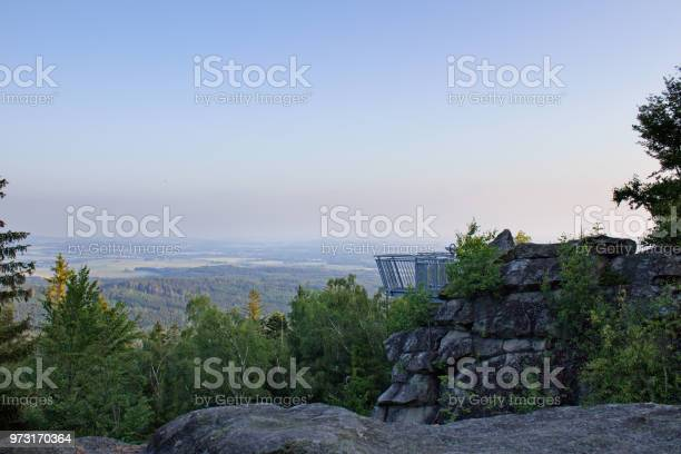 Photo of Vantage point from side with blue sky, Mandelstein, Austria