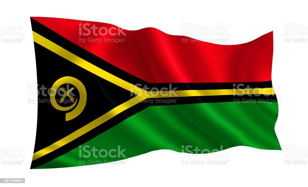 Vanuatu flag. A series of 'Flags of the world.'  (The country - Vanuatu flag) stock photo