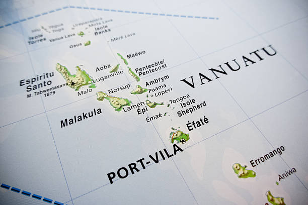 Vanuatu islands map Vanuatu islands map vanuatu stock pictures, royalty-free photos & images