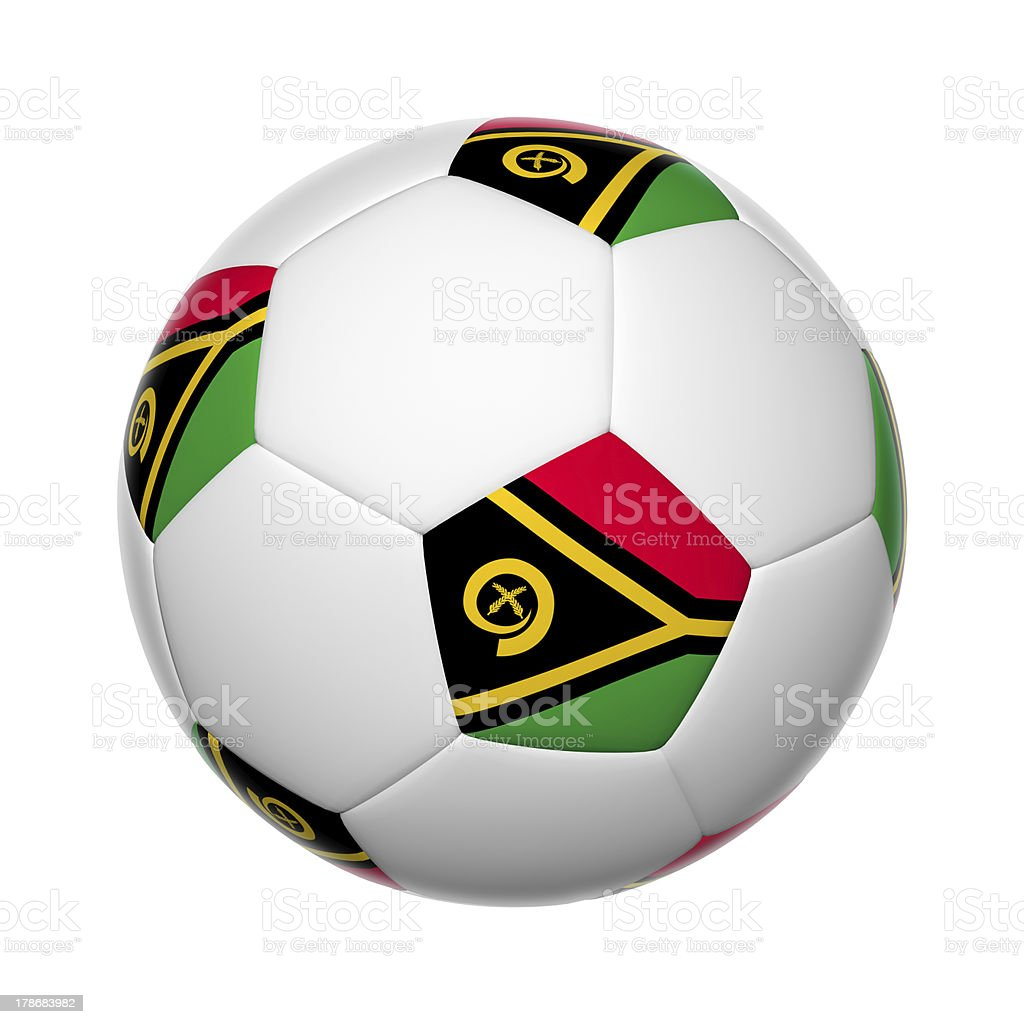 Vanuatu soccer ball stock photo