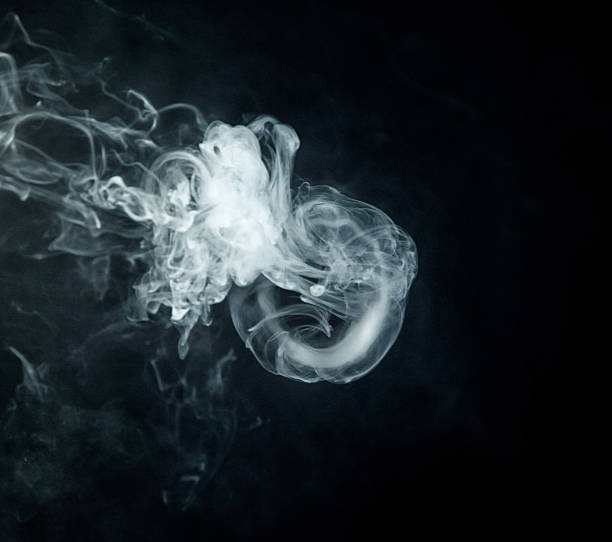 Vape trick jellyfish close up stock photo