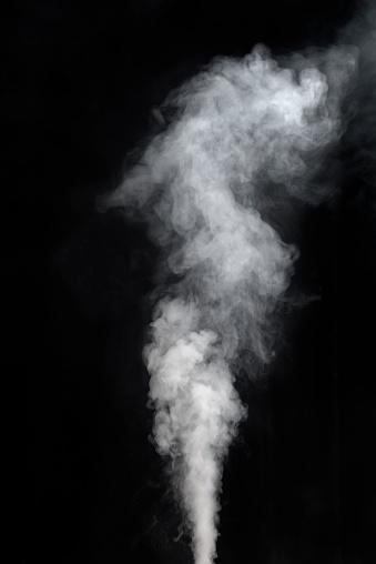 Vaping smoke on black background