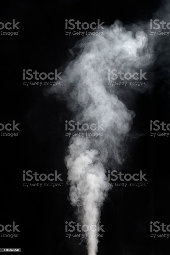 Vaping smoke on black background stock photo