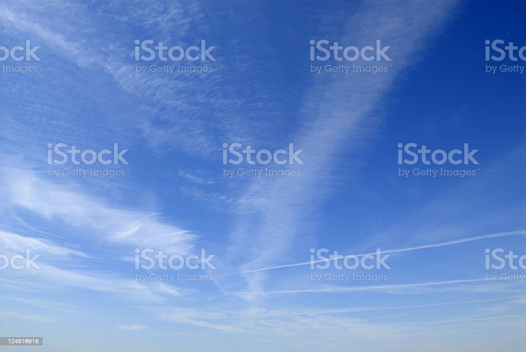 Vapor Trail Sky royalty-free stock photo