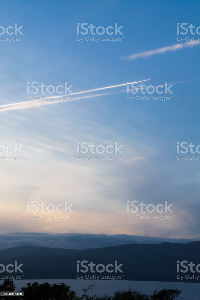 Vapor Trails stock photo