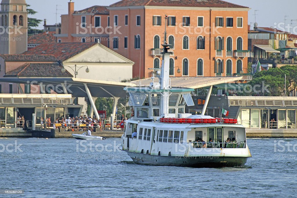 vaporetto in Venice for the transportation of tourists royalty-free stock photo