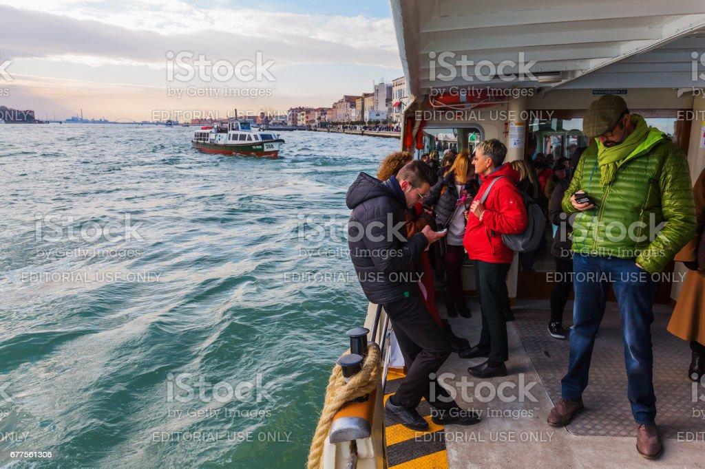 Vaporetto in Venice, Italy royalty-free stock photo