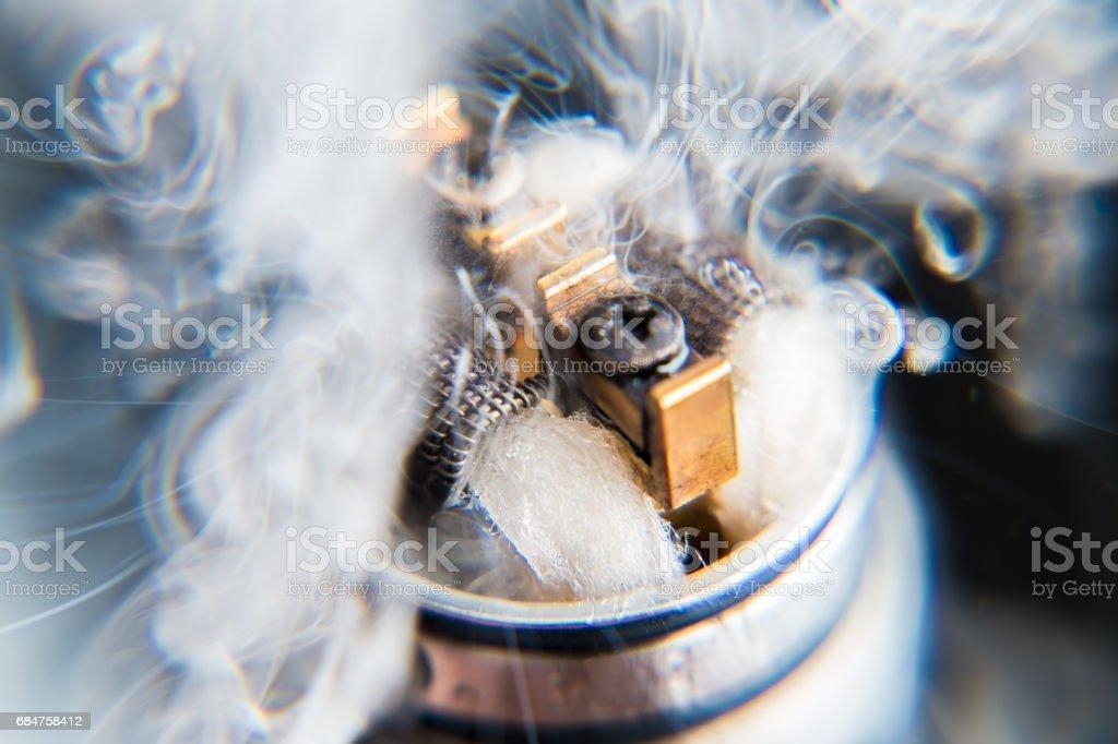 Vaporizers vape cloud - close up stock photo