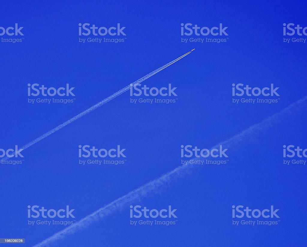 Vapour Trail royalty-free stock photo