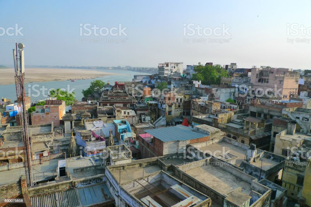 Varanasi city stock photo