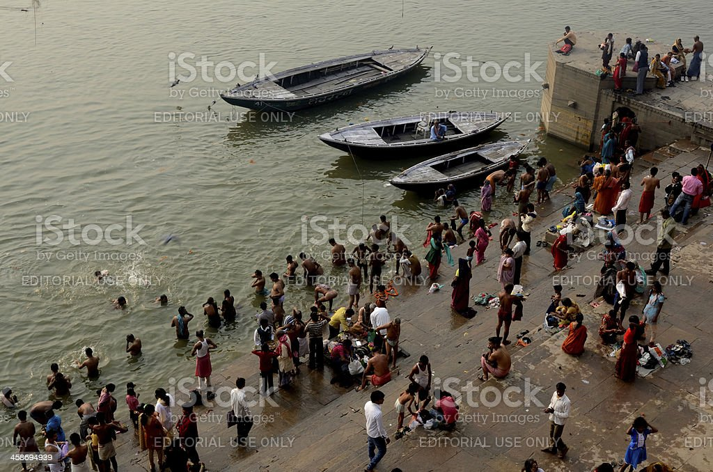 Varanasi Ghat royalty-free stock photo