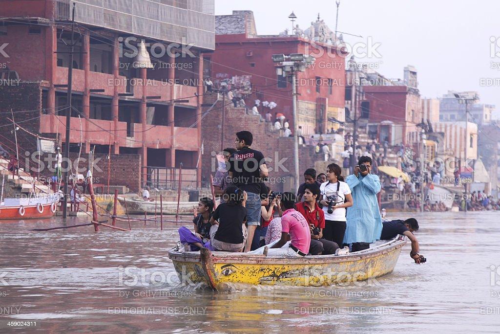 Varanasi in Uttar Pradesh, India royalty-free stock photo