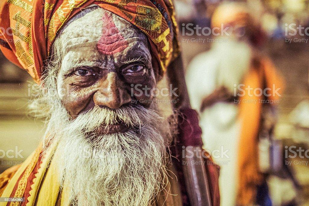 Varanasi Sadhu stock photo