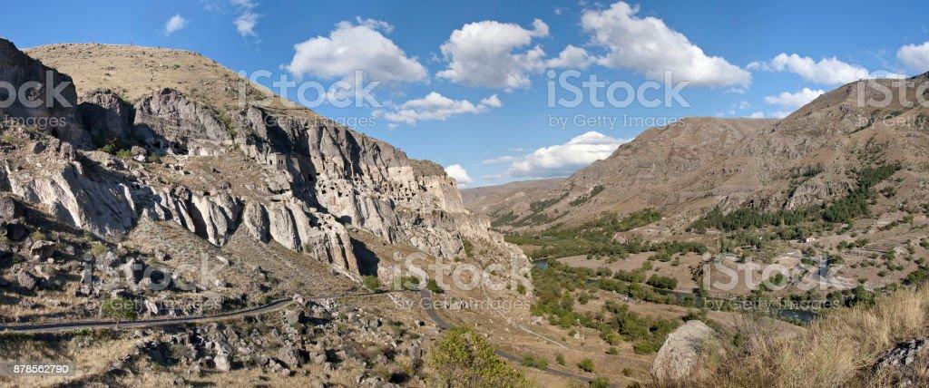 Vardzia cave city in Georgia stock photo