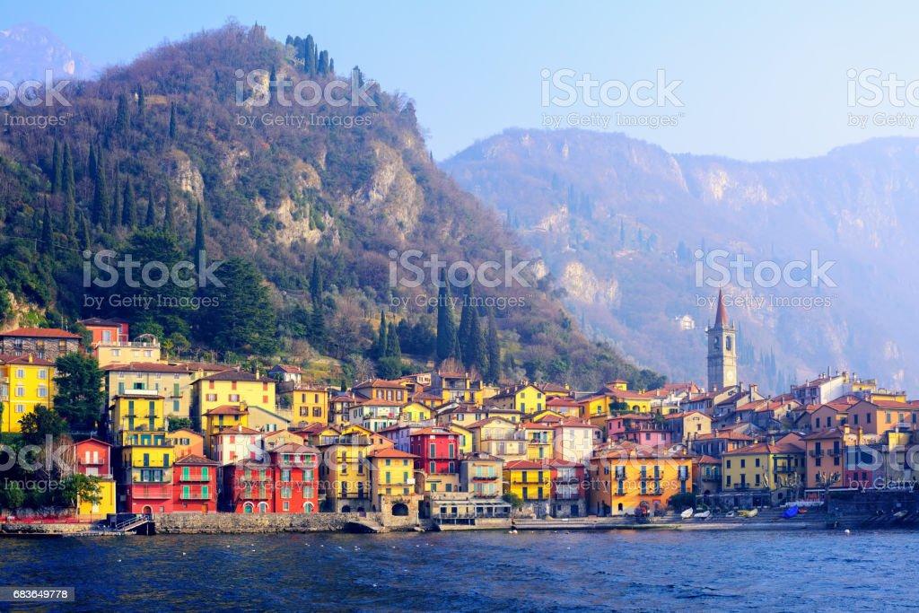 Varenna town on Lake Como, Lombardy, Italy stock photo