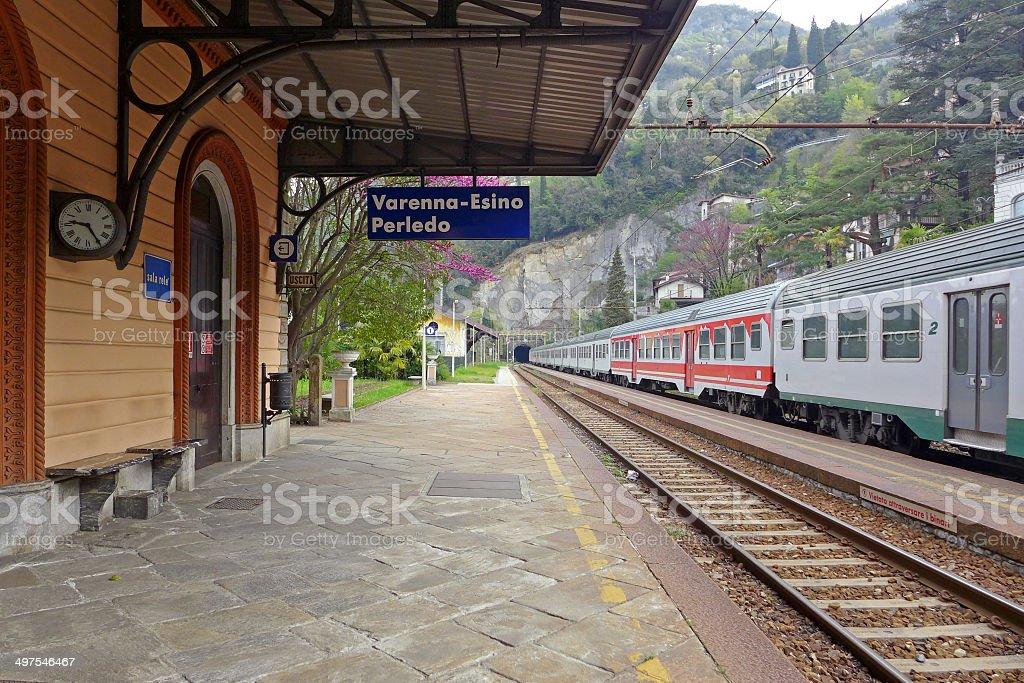 Varenna Train Station stock photo