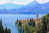 istock Varenna, view of the city with bell tower. Lake Como 1198669486