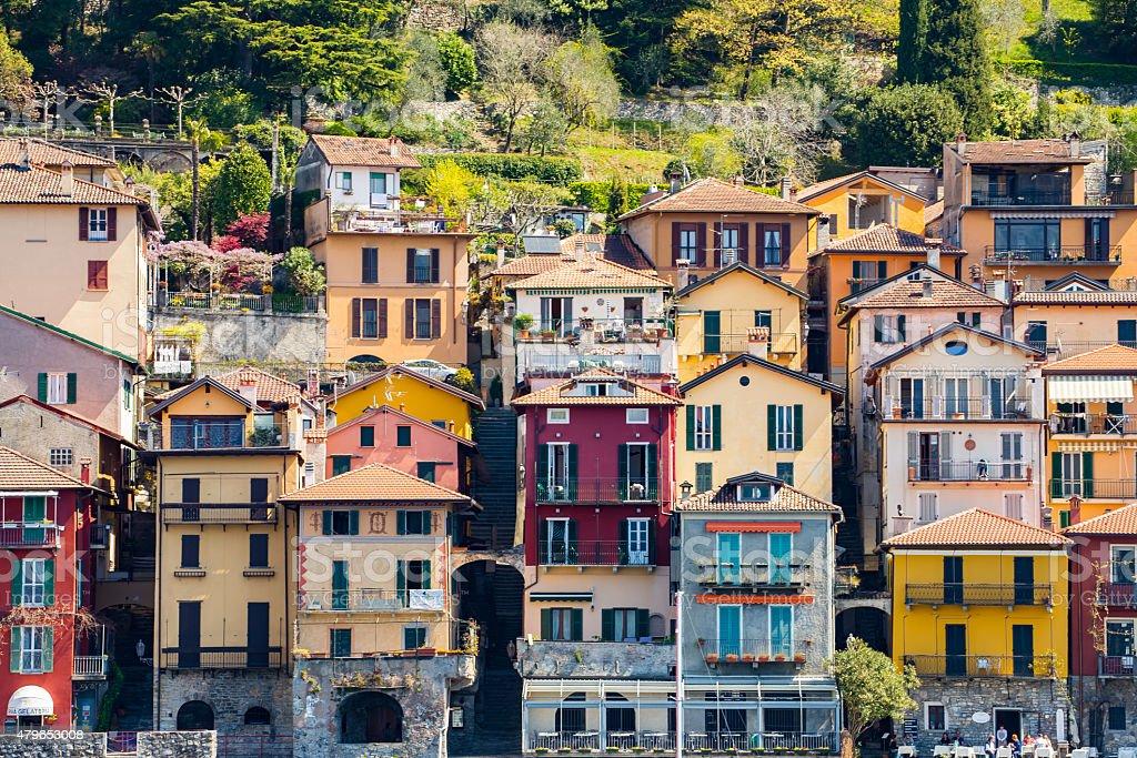 Varenna Village in Lake Como, Italy stock photo