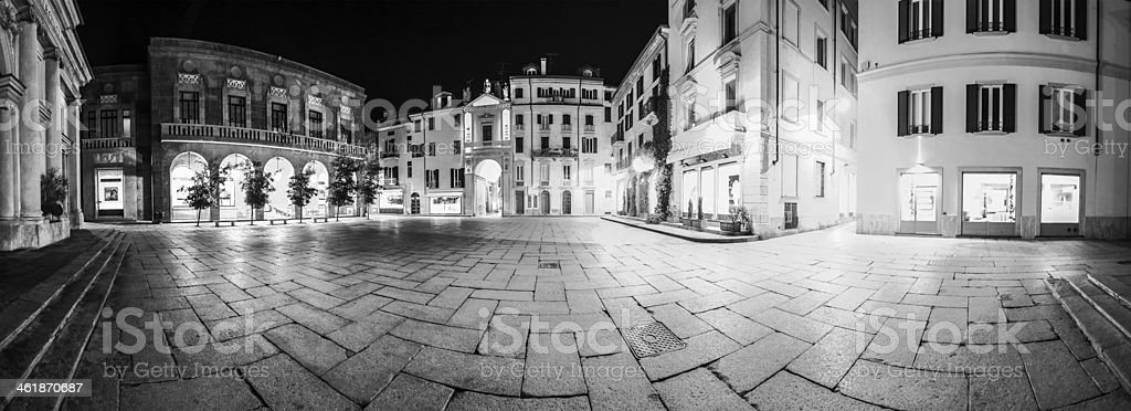 Varese, piazza San Vittore - Night view stock photo