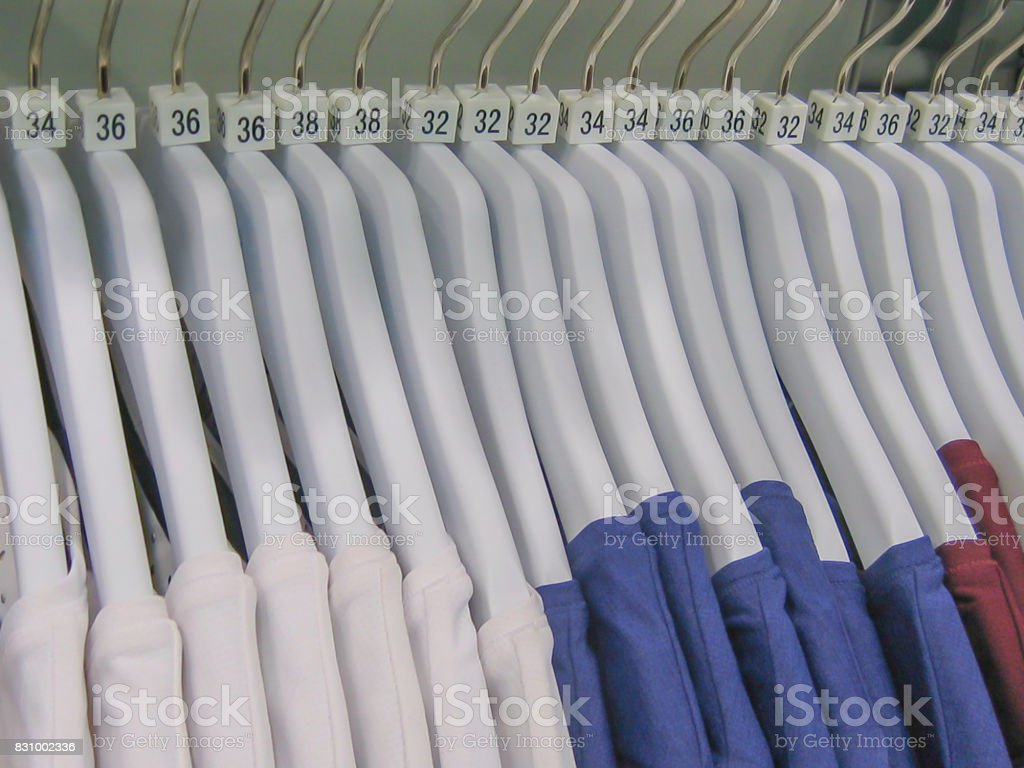 Variation Colors Of Plain Tshirt Hang In A Row Stock Photo Istock
