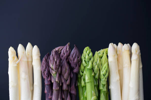 variation of asparagus - asparagus stock pictures, royalty-free photos & images