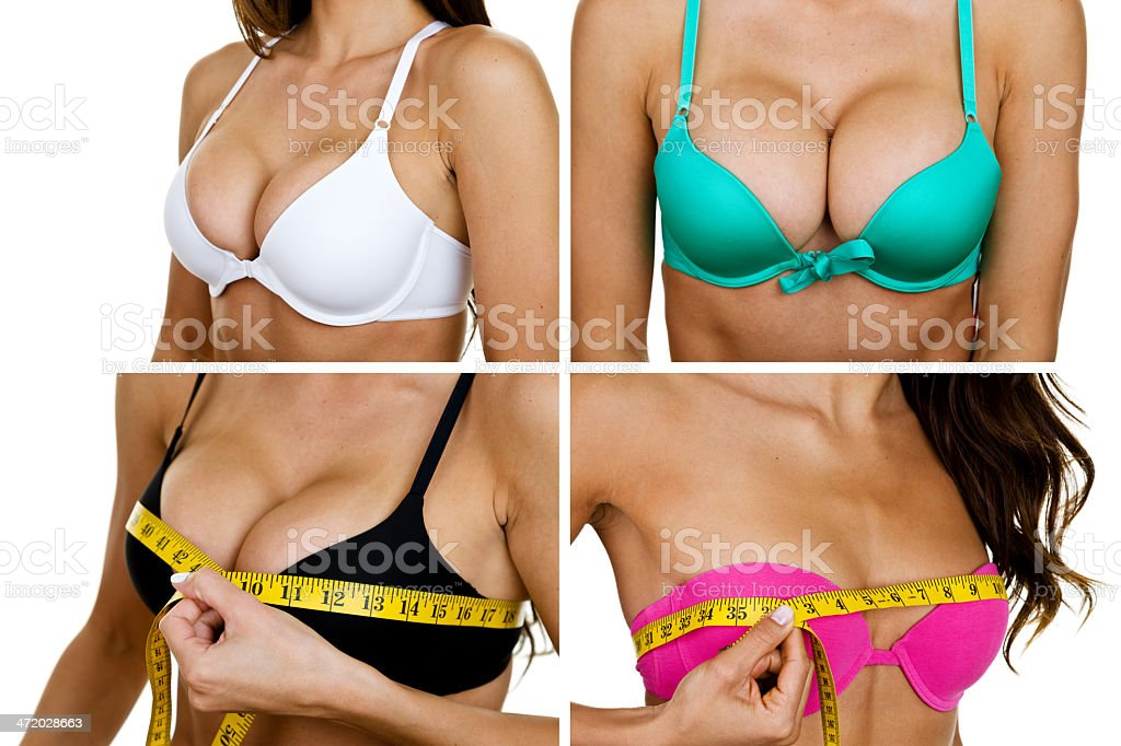 Variation of breast sizes stock photo