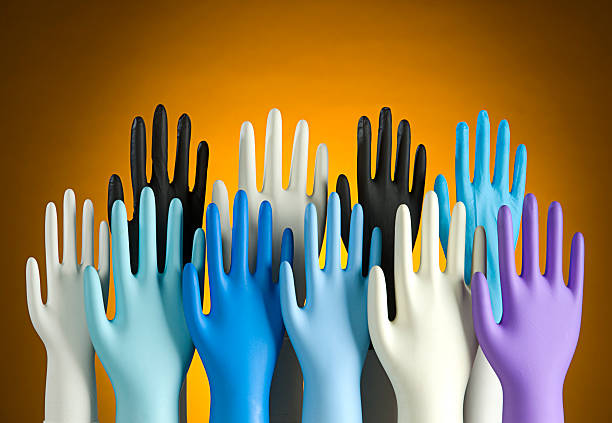 variation of latex glove - latex stock pictures, royalty-free photos & images