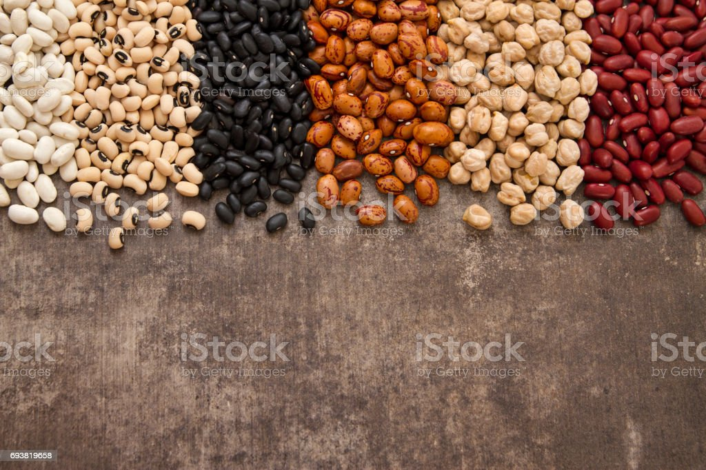 Variation of Legumes stock photo