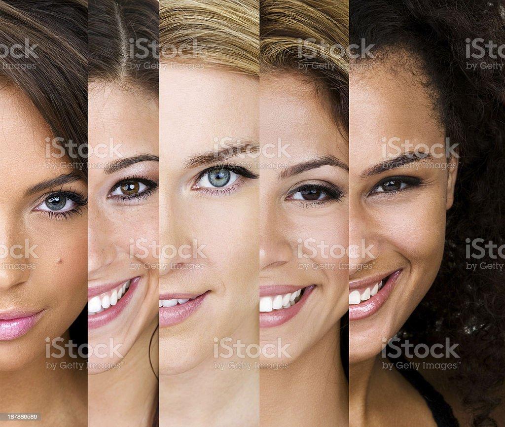 Vielfalt von Hauttypen – Foto