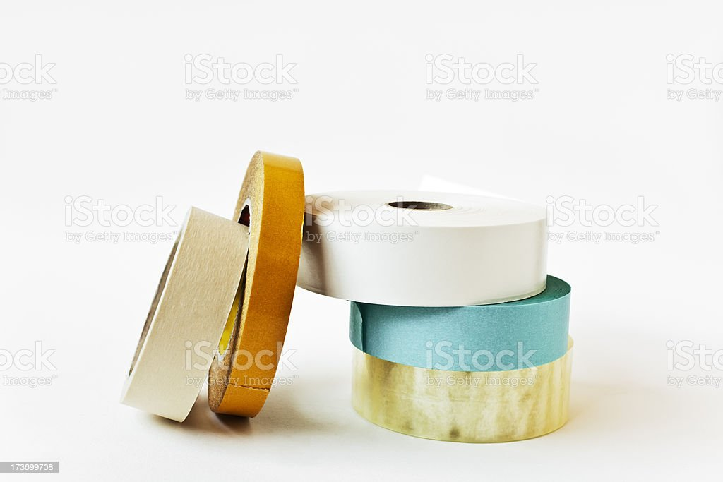 Variation of tape rolls in different colors. royalty-free stock photo